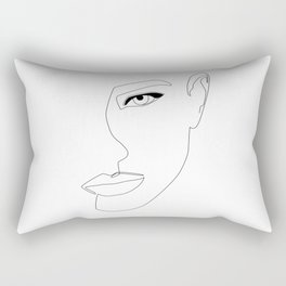 Face Shadow Rectangular Pillow