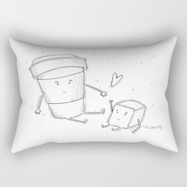 You're the sugar to my coffee Rectangular Pillow