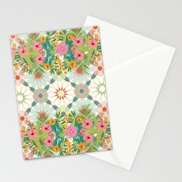 floral zellij ntropical Stationery Cards