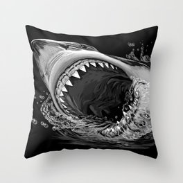 Shark Painting 2 Throw Pillow