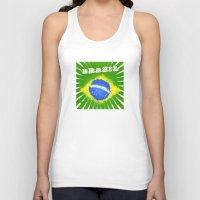 brazil Tank Tops featuring Brazil  by morganPASLIER