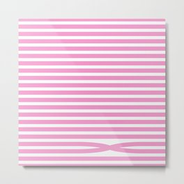 Stripes - Baby Pink Metal Print