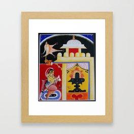 Prayer to Shiva Framed Art Print