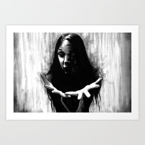 The Raven Was Called Sin Art Print