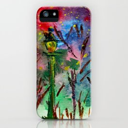 Night in the park iPhone Case