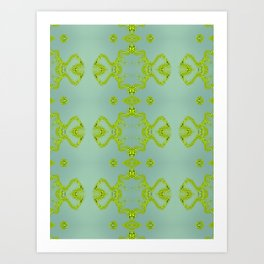 Yellow lace Art Print