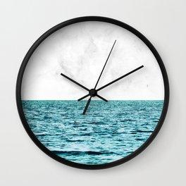 Ocean + Marble    #society6 #decor #buyart Wall Clock