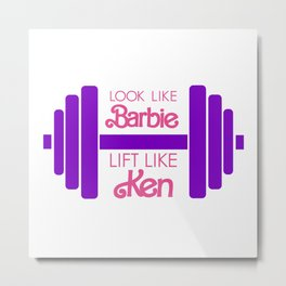 Barbie Metal Print