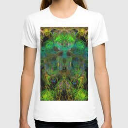 Seaweed Ghost Breath (abstract, psychedelic, scary) T-shirt