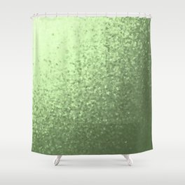 grenn, mintcollage of many small checks for a festive modern pattern Shower Curtain
