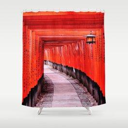 Through the Gates (Kyoto, Japan) Shower Curtain