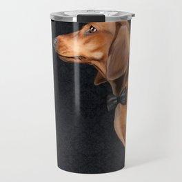 Elegant dachshund. Travel Mug
