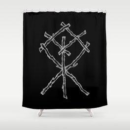 Rune Binding at Midnight Shower Curtain