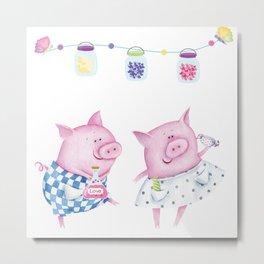 Pork chop love Metal Print