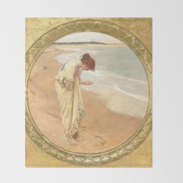 The sea hath its pearls - William Margetson Throw Blanket