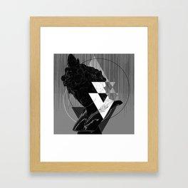 Bacchus Greyscale Framed Art Print
