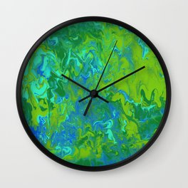 Paint Pouring 36 Wall Clock
