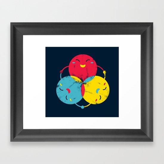 happy together Framed Art Print
