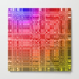 Fabulous rainbow stained glass texture Metal Print