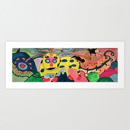 Cataclysmic Caterpillar Rummages through the Gumdrop Valley Art Print