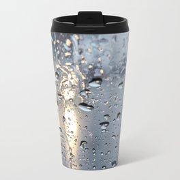 The headlights through wet glass. Travel Mug