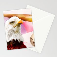 Baseball American Made By Annie Zeno Stationery Cards