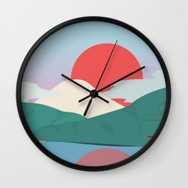 Mt Fuji from Hakone National Park Wall Clock