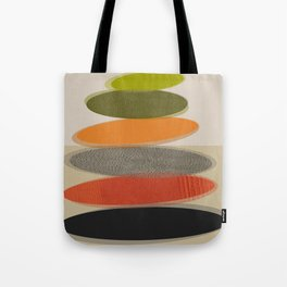 Mid-Century Modern Ovals Abstract Tote Bag