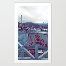 No Fishing in Catalina Art Print