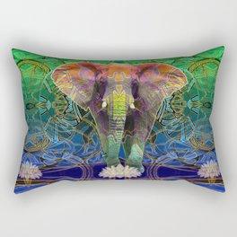 Wandering Elephant Rectangular Pillow