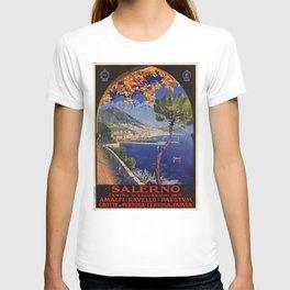 Salerno Italy vintage summer travel ad T-shirt
