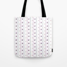 Orchid/Navy Stripe Tote Bag