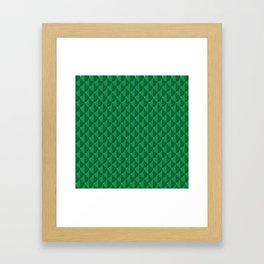 Jade Dragon Scales Framed Art Print