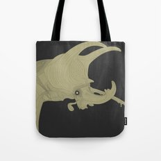 All lines lead to the...Inverted Rhino Beetle Tote Bag