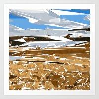 iceland Art Prints featuring iceland by Matthias Hennig