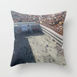 View of St. Mark's Square From St Mark's Campanile. Throw Pillow