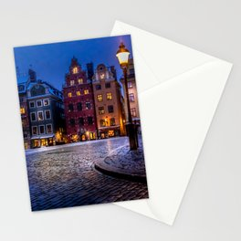 The Old Town Winter Night II Stationery Cards