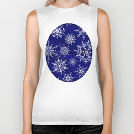 Snowflakes Floating through the Sky Biker Tank