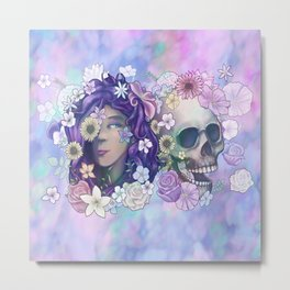 Flower Skull 2019 Metal Print