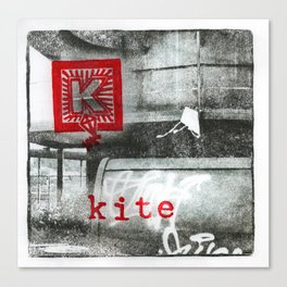K is for kite Canvas Print