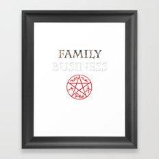 family business Framed Art Print