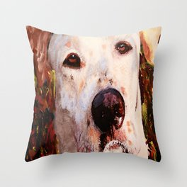 Monster The Dog Throw Pillow