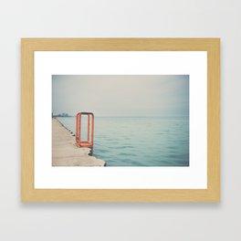 the orange steps ... Framed Art Print