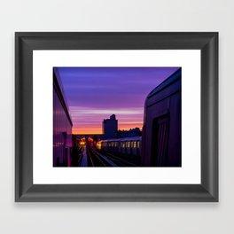 Commuter Sunrise Framed Art Print