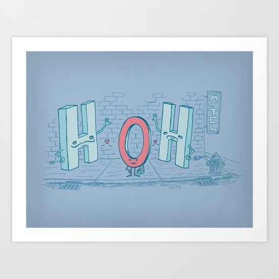 Ménage Agua Art Print