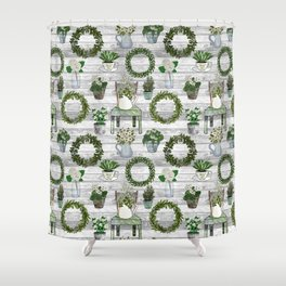 Farmhouse Botanicals Shower Curtain