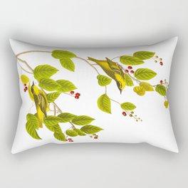 Carbonated Warbler Bird Rectangular Pillow