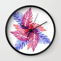 plants Wall Clocks featuring Plants by melanie johnsson