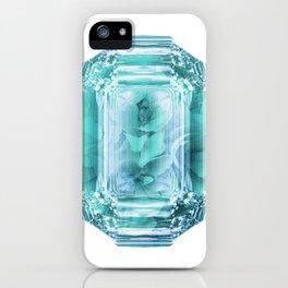 Aquamarine Rose Crystal iPhone Case
