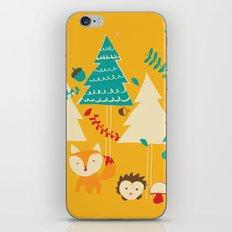 Woodland Christmas friends iPhone & iPod Skin